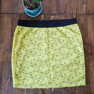 Candies neon mini skirt